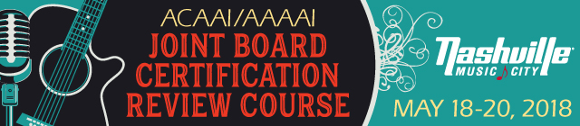 2018 ACAAI/AAAAI Joint Board Certification Review Course