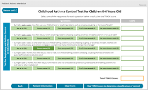 Pediatric Asthma eYardstick | College Learning Connection
